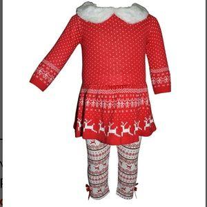 NWT Toddler Girl Holiday Christmas Sweater Dress